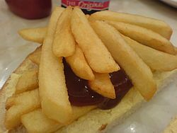 The size of the Wikipedia article on the chip butty is disturbing.