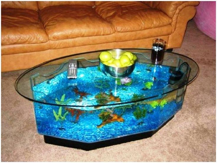 Coffee Table Fish Tank Dcoration Ideas