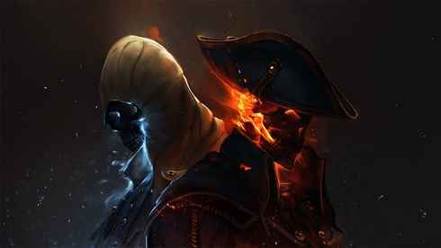 Dreamy Fantasy Assassins Creed Ghost Rider Pirates Skeleton Artwork Video Games Wallpaper