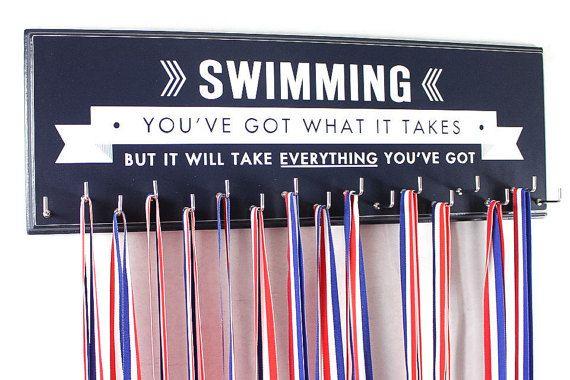 Affichage médaille natation pour nager médailles et rubans de nageur