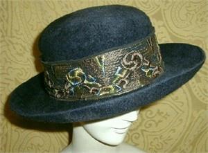 Edwardian Hat,LAdies Bowler,Anique Hat,Ohio Milliner | Rue de la Paix