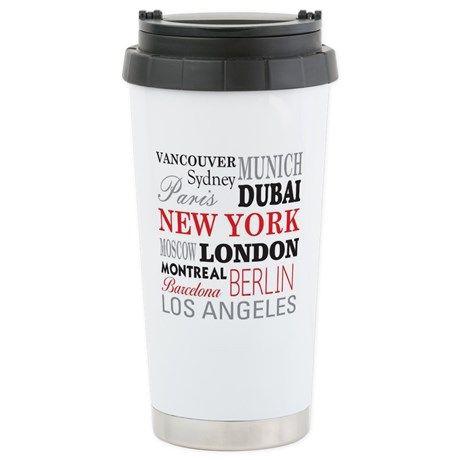 Cities of the World Travel Mug on CafePress.com