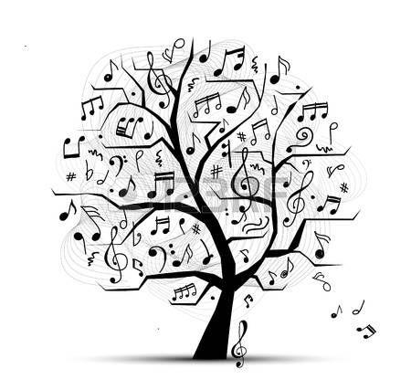 Absztrakt zenei fa a design