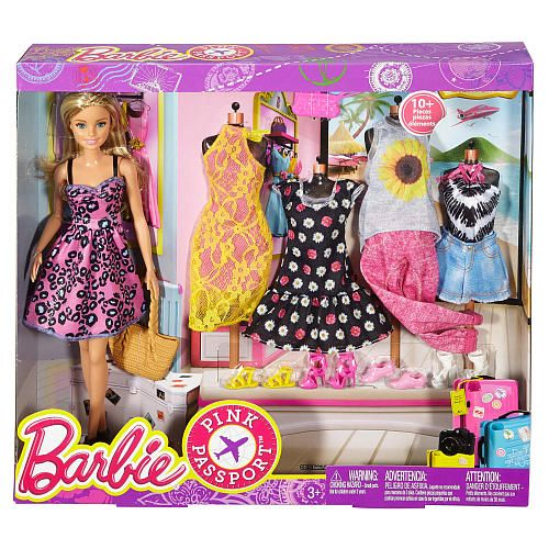 "Barbie Pink Passport Fashion Doll Gift Set - Mattel - Toys ""R"" Us"