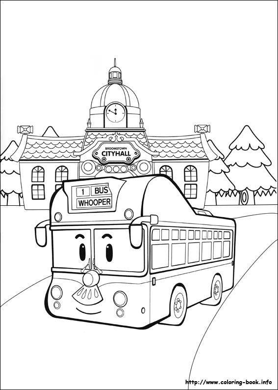 Mewarnai Tayo Little Bus : mewarnai, little, Robocar, Gambar, Mewarnai, Halaman, Mewarnai,, Lembar