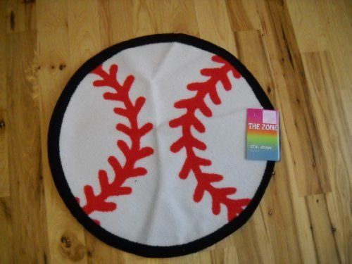 Marvelous Baseball Shaped Accent Rug Boys Sports Bedroom Throw Rugs Carpets By THE  ZONE. $19.99.