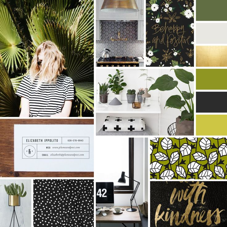 Happy Monday everyone! I hope you all had a good weekend. This week's mood  board might be my favourite of the ones I've created so far! As you may be  able to tell by now, I'm a fan of black and white patterns and gold  accents. I really love how these shades of green compliment the black,  white, and gold. This mood board (along with the fact I've been watching  too many home reno shows lately) really makes me want to decorate a room  inspired by this look!  Image Sources: 1 / 2 / 3 / 4…