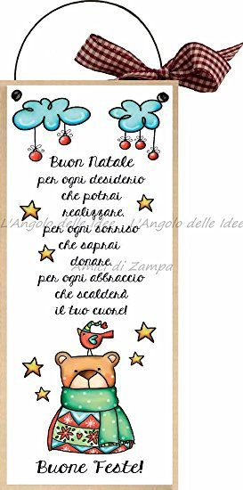 """formelle con ferretto cm 10x24 """"Buone Feste! Buon Natale per ogni desiderio ..."""" idea regalo targa porta con scritta spiritosa country regalo di natale babbo natale albero buon natale auguri"""