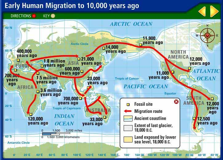 115 best Human Migration out of Africa images on Pinterest | Maps