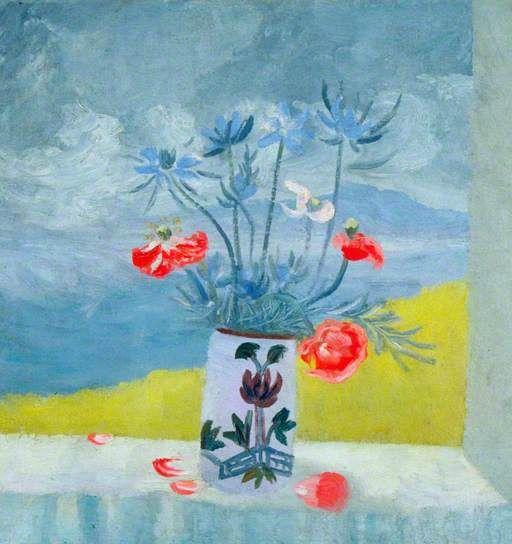 Flowers on a Window Sill. Winifred Nicholson