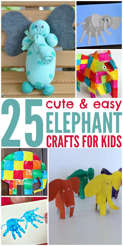 Looking to do elephant crafts with your child? Here are 25 different elephant themed crafts for you to get busy, great for early education.