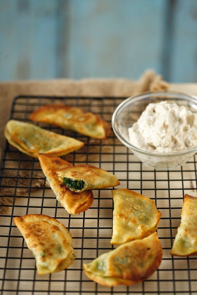 Cretan cuisine inspired shallow-fried fennel handpies with homemade pastry, served with fluffy tarama mousse