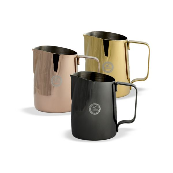 This Coloured Stainless Steel Milk jug in 450ml size, is excellent for households or cafes where 300ml just isnt enough. A thicker setting than our basic stainless steel means excellent quality and durability.   The tapered angle and rounded spout makes for top pouring control.
