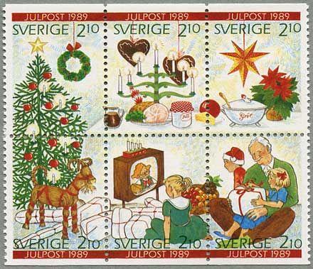 ♥ ◙ Sweden, Postage Stamp, 1989. ◙