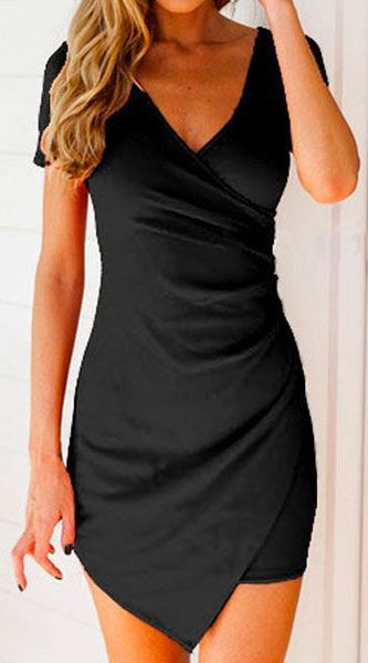 i love how flattering a black wrap dress can be