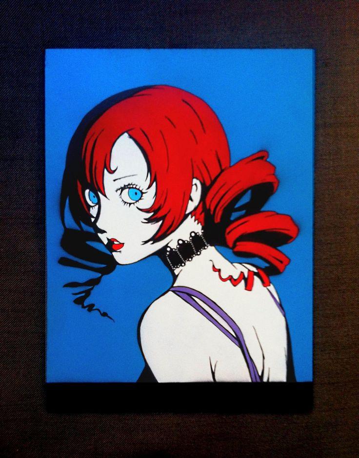 Redhead  - Original, Handmade Stencil, Artwork Painting by DrStencil on Etsy