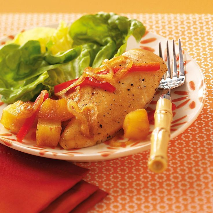 Tropical Chicken Packets Recipe -Yum! These quick-and-easy chicken packets are destined to become your family's new favorite. The chicken is tender and laced with sweet pineapple and tropical flavors. Cleanup's a breeze…these would be perfect for camping. —Jacqui Correa, Landing, New Jersey