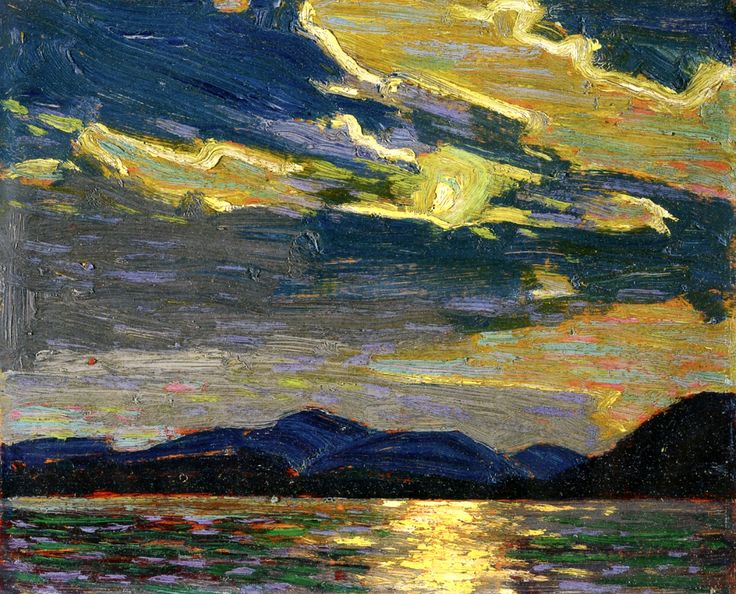 Tom Thomson (Canadian, 1877-1917) | Hot Summer Moonlight, 1915