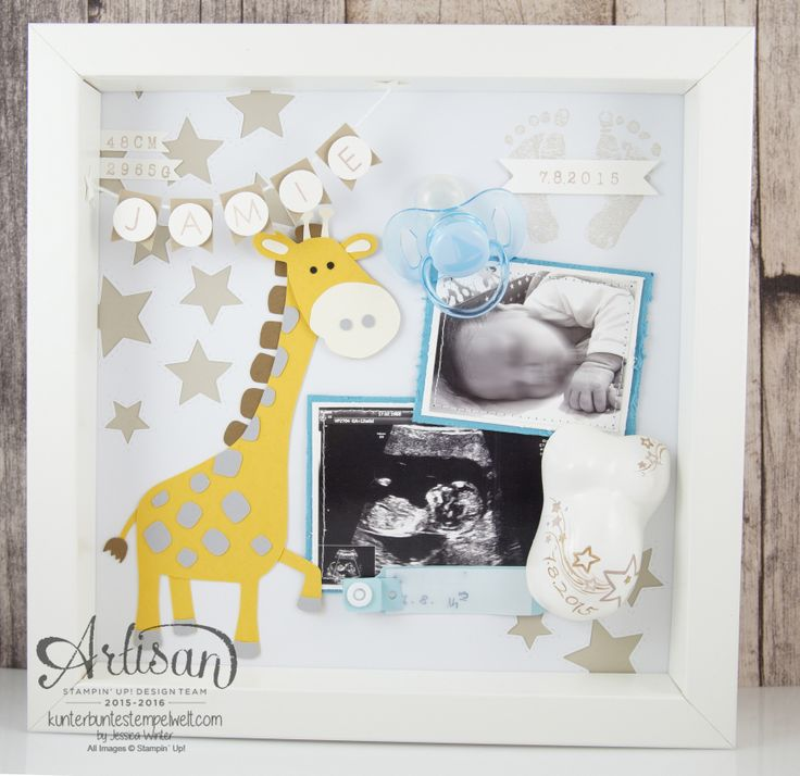 Stampin Up! - Artisan Design Team - Shadow Box - memory picture - Mini plaster belly Cameo - 1