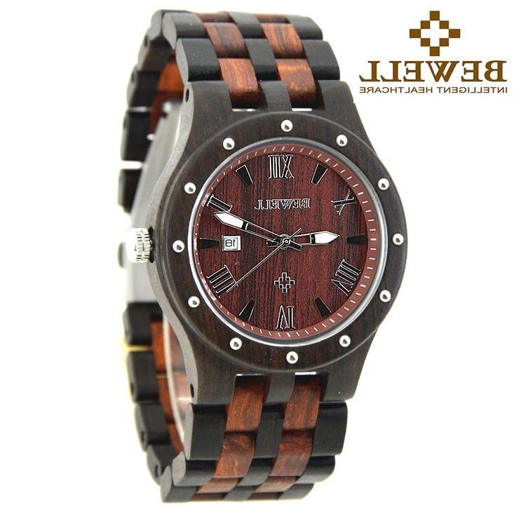 28.31$  Buy now - https://alitems.com/g/1e8d114494b01f4c715516525dc3e8/?i=5&ulp=https%3A%2F%2Fwww.aliexpress.com%2Fitem%2FBEWELL-Mens-Wooden-Watches-Top-Brand-Luxury-Watch-2016-Newest-Japan-Movement-Men-Big-Wristwatches-Best%2F32755036621.html - BEWELL Wooden Watches Men Top Brand Luxury Watch Relogio Masculino Esportivo Complete Calendar Wristwatches Rologio Masculino  28.31$