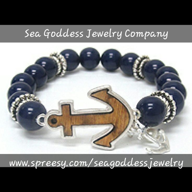 Inspired by my love of the sea and our nations military, this bracelet is perfect for the sea lover or navy & coast guard supporters!    The anchor is made of wood and the bracelet is stretch and is perfect to fit ANY size wrist! | Shop this product here: http://spreesy.com/seagoddessjewelry/116 | Shop all of our products at http://spreesy.com/seagoddessjewelry    | Pinterest selling powered by Spreesy.com