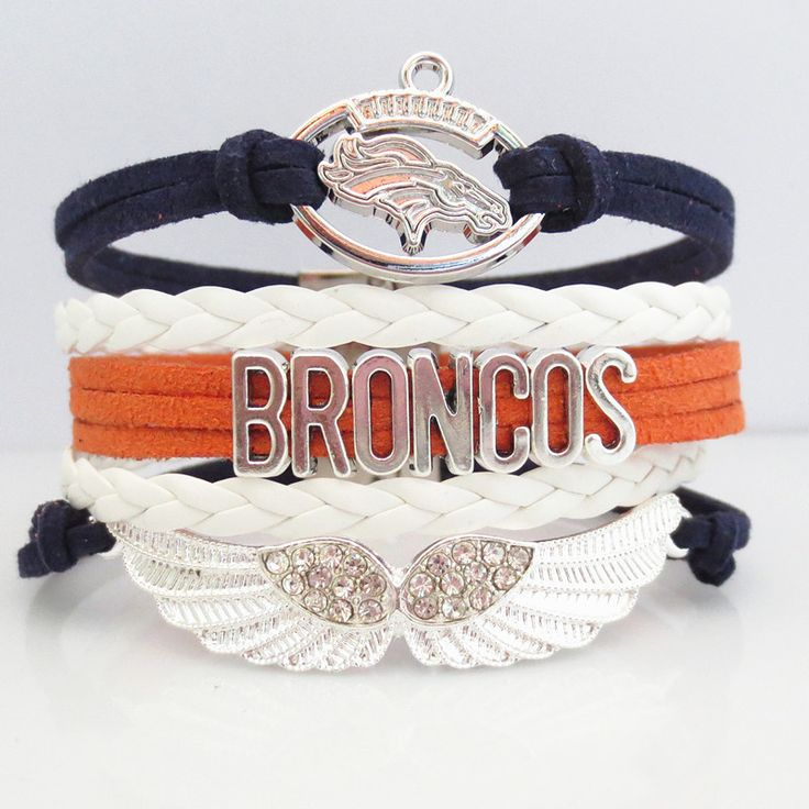 INTRODUCTORY 50% OFF SALE! Brand new for 2016 season! Introductory special - Be one of the first to get one of these pretty Love Denver Broncos Football Bracelets at 50% Off retail. Show off your team https://www.fanprint.com/licenses/denver-broncos?ref=5750