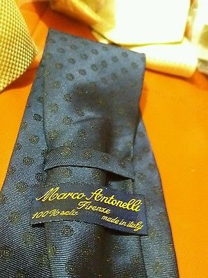 Cravatta elegante in seta uomo regalo festa papà silk tie Antonelli Firenze