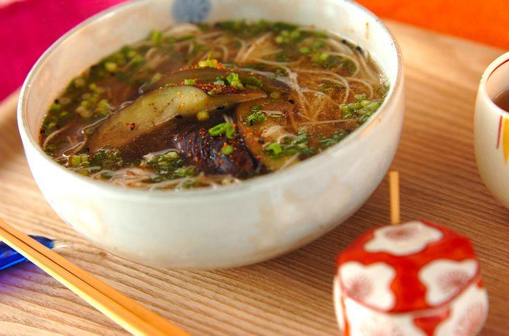 ナスの温麺のレシピ・作り方 - 簡単プロの料理レシピ   E・レシピ