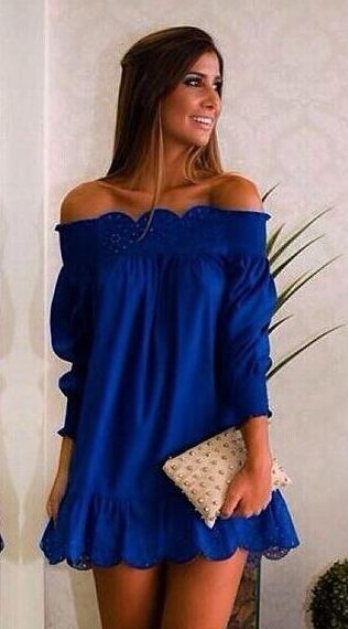 Fashion with the off shoulder design,the dress is charming and attractive.You can wear it on casual and you can wear it on street.It can show your beautiful figure to others. Material:Spandex Size:S,M