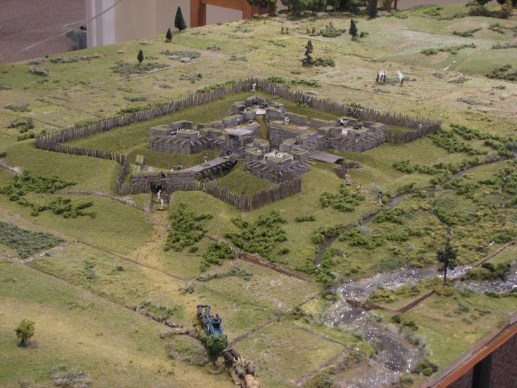 Fort Stanwix, Mohawk Valley 1777 diorama.
