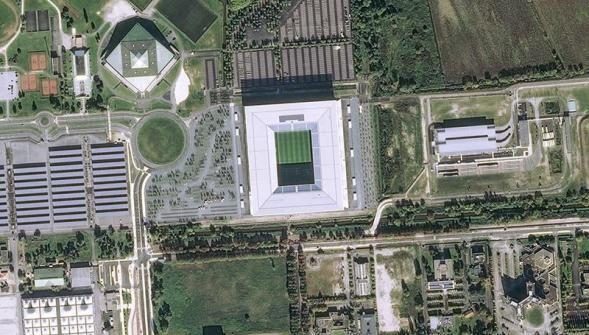 EN IMAGES : les dix stades de l'Euro de foot 2016 vus par le satellite Pléiades - La Voix du Nord