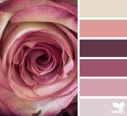 Paletas de cores/penteados /maquiagem