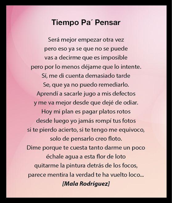 tiempo pa pensar - Mala Rodriguez