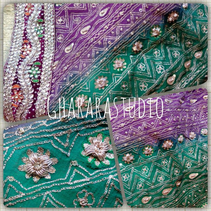 Double colour dupatta with dabka and zari work all over and kundan lace at the border.  Call, whatsapp or inbox for enquiry.  #Gharara #ghararastudio #ghararastudiobyshazia #wedding #weddingseason #weddingdress #dupatta #doubleshade #green&purple #chunni #khadadupatta #dabka #zari #kundan #handcrafted #embroidery #bridalgharara #walima #shaadi #nikah #muslimbride #indianbride #fashion #style #indianwedding #indiantradition #instafashion #instapic