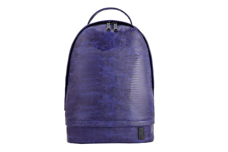 Indigo Faux Leather Backpack – FASCIL