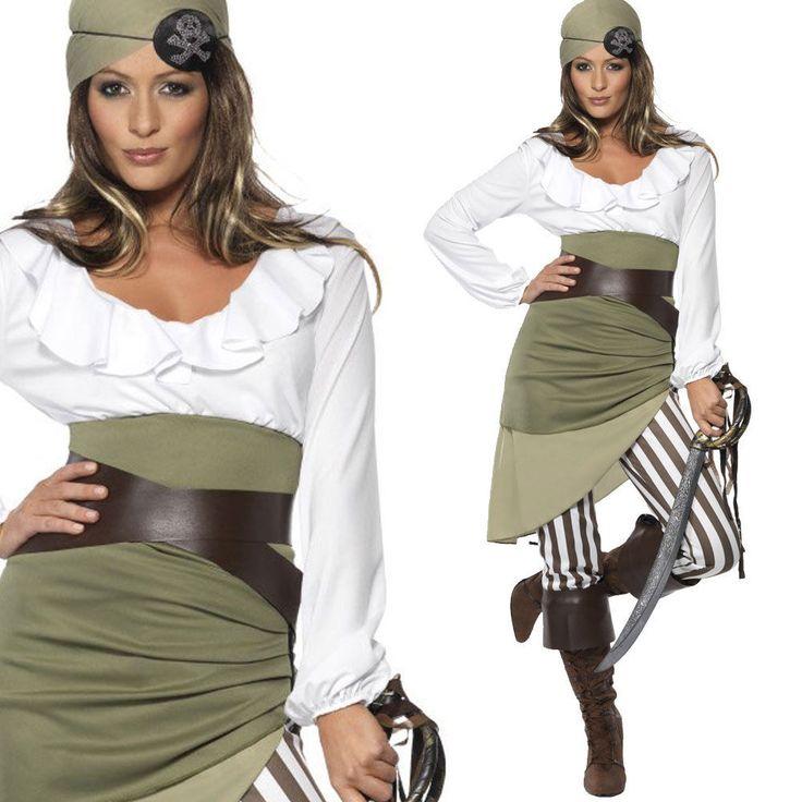 Da Donna Verde Shipmate Sweetie Costume - Da Donna Costume Pirata it.picclick.com