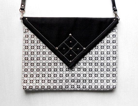 Fashionista Geometrical Envelope Bag / Fabric Handbag / Paperback Clutch by BlumArt