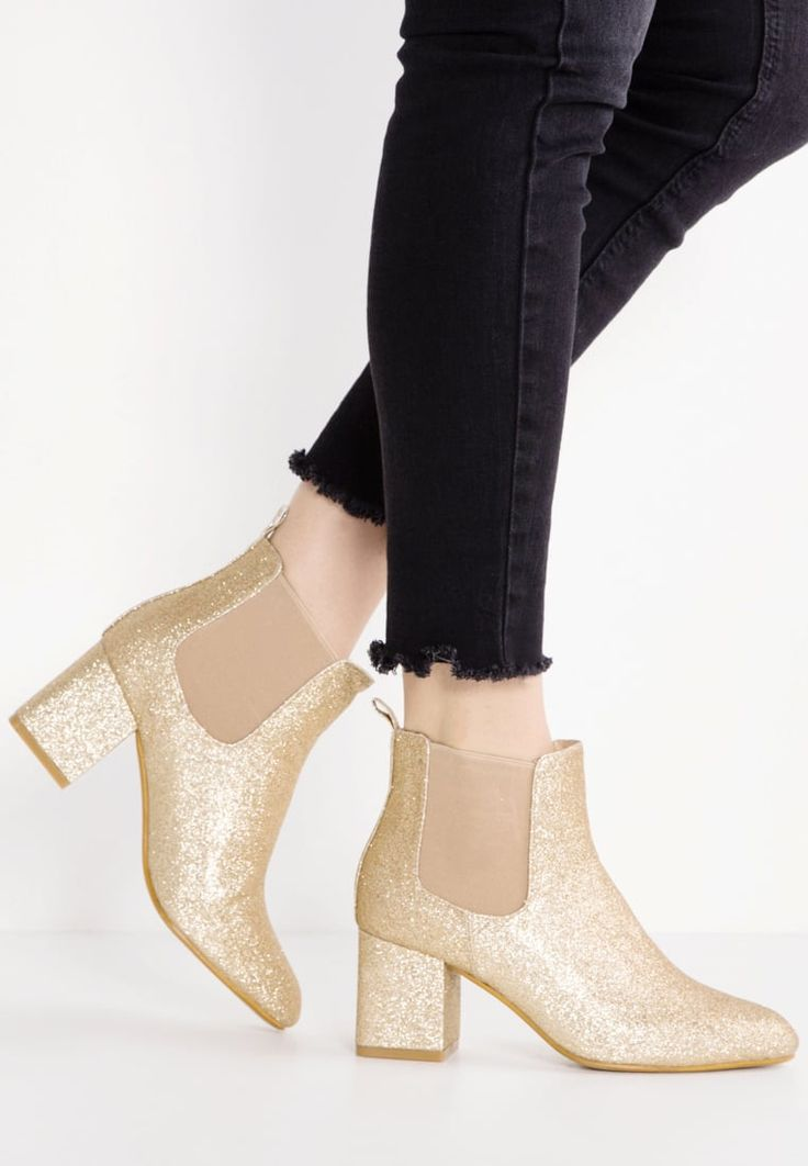 Missguided Ankle boots - gold for £40.99 (03/11/16) with free delivery at Zalando