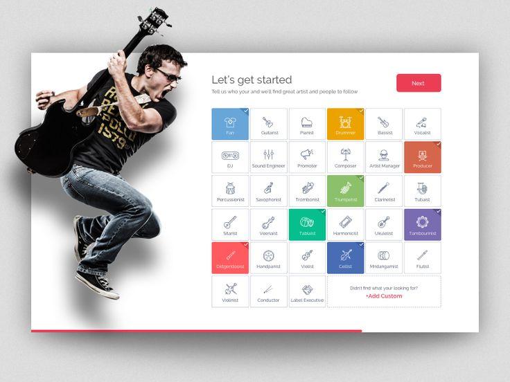Onboarding  Music Persona app by pramod kabadi