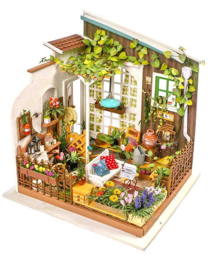 Lovely DIY Miniature Dollhouse Kit  Milleru0027s Garden By Robotime Now Itu0027s Available  On Robotimeu0027s Webshop