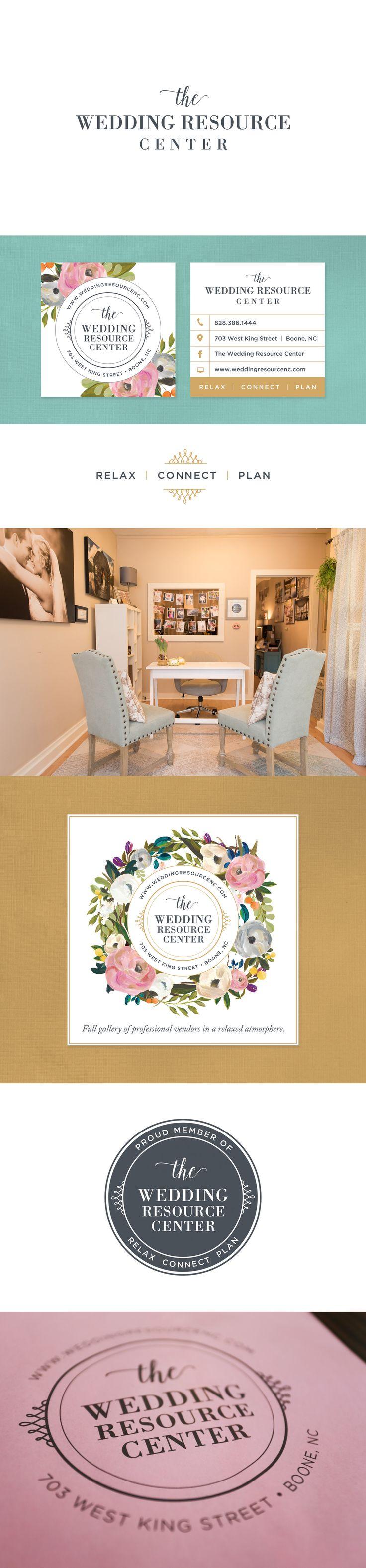 The Wedding Resource Center ~ Branding & Design by Snow in July Designs #logodesign #branding