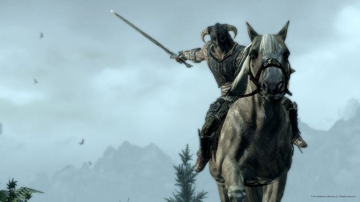 mounted combat comes to skyrim!