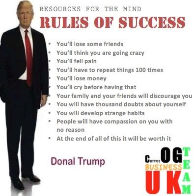COFFEE OG TEAM BUSINESS UK: RULES OF SUCCESS BY DONALD TRUMP