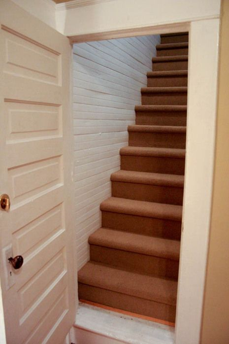 Stair Box In Bedroom: Before And After: Attic Stairs Makeover