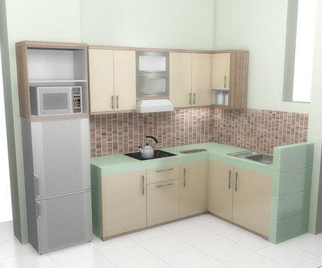 harga pembuatan kitchen set minimalis harga murah di kota Bandung