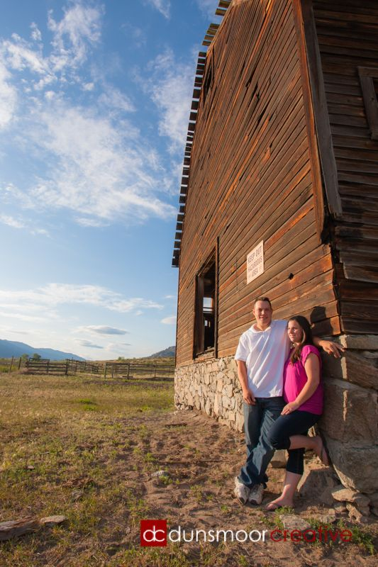 A perfect evening for an engagement shoot. This was an old, 1890's built barn on the couple's property!