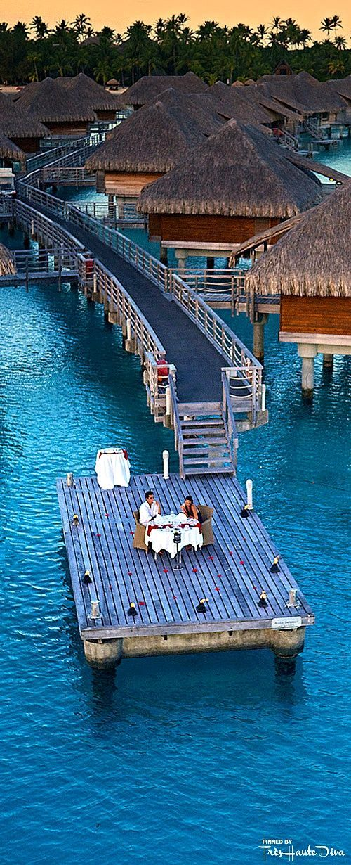 Romantic dinner for two at the InterContinental Bora Bora Resort & Thalasso Spa