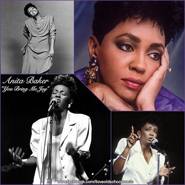 "Anita Baker's ""You Bring Me Joy"" was a great slow dance song...a time when men held their women tight assuring them ""Not to worry about a thing, I got you.""  Love me some old school music. — with Theresa Lewis."