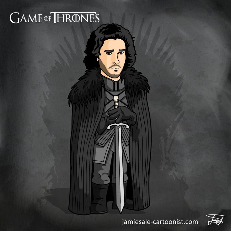 Jon Snow Game of Thrones Cartoon Character