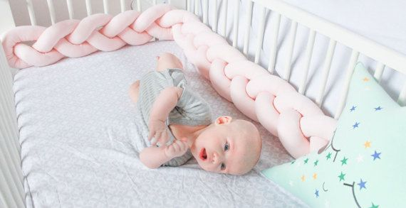 Hey, I found this really awesome Etsy listing at https://www.etsy.com/listing/497292664/braided-crib-bumper-knot-pillow-knot